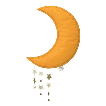 Moon yellow with stars
