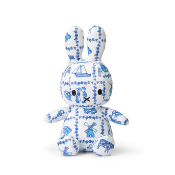 miffy all-over Delft Blue print