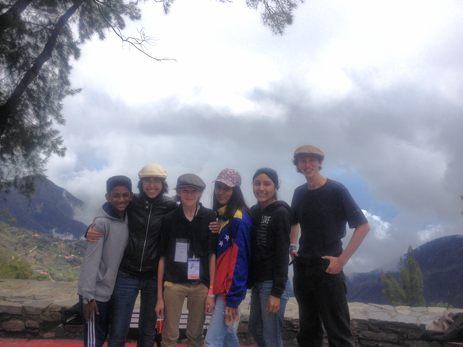 Andrea and students in Venezuela