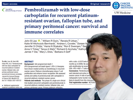 New CVI paper on a Phase I/II clinical trial with on combination of Pembrolizumab with low dose carb