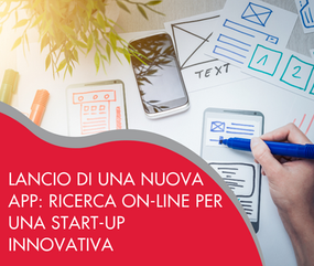 Lancio di una nuova app: ricerca on-line per una start-up innovativa