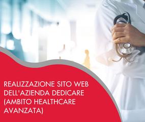 Realizzazione sito web dell'azienda Dedicare, ambito Healthcare avanzata