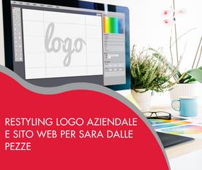Restyling logo aziendale e sito web per Sara Dalle Pezze