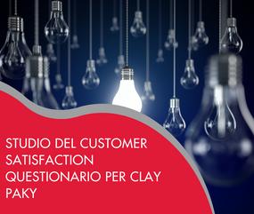 Studio del customer satisfaction questionario per Clay Paky