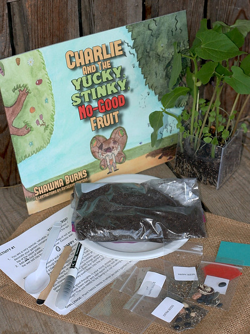 "Bundle: ""Charlie and the Yucky, Stinky, No-Good Fruit"" Book and Activity kit"