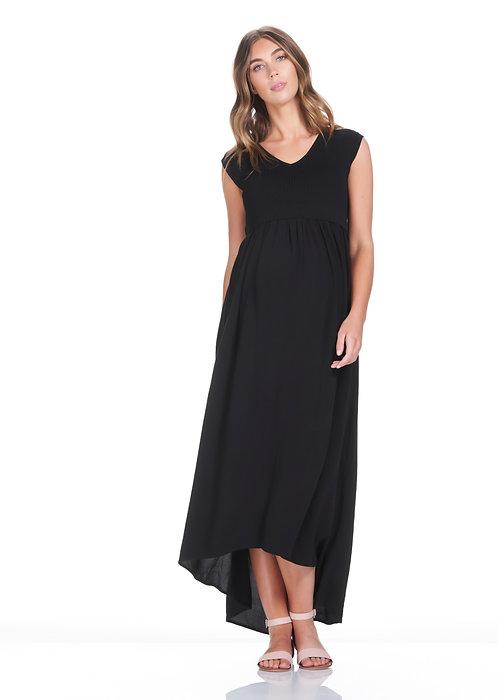 Soon Maternity Francis Maxi Dress | Black