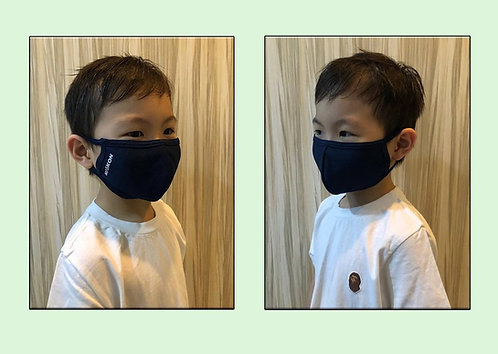 Antimicrobial Reusable Face Mask | Kids Navy Blue
