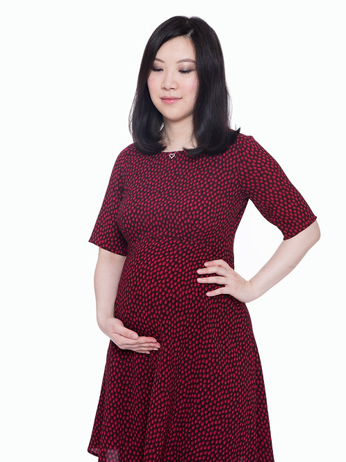 Seraphine Cerise Dot Dress | Red