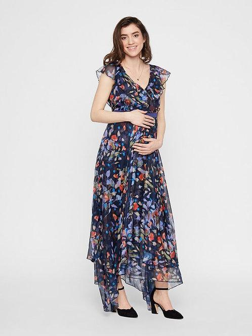 Mamalicious Floral Chiffon Maxi Dress