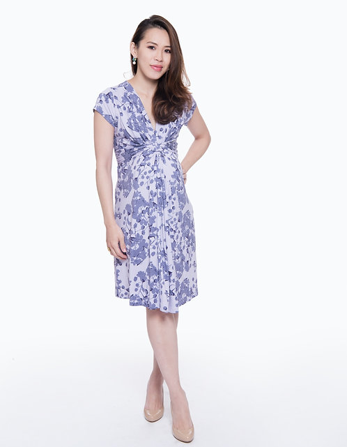 Seraphine Lavender Blossom Knot Front Dress | Purple