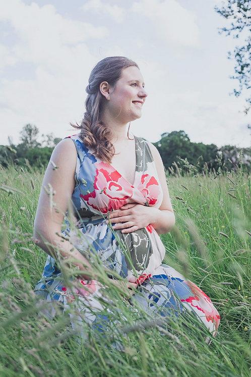 Motherhood Maternity Floral Chiffon Dress   White Multi