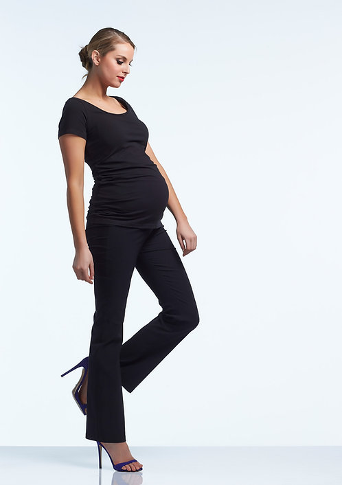 Soon Maternity Flora Regular Fit Tailored Pant | Black