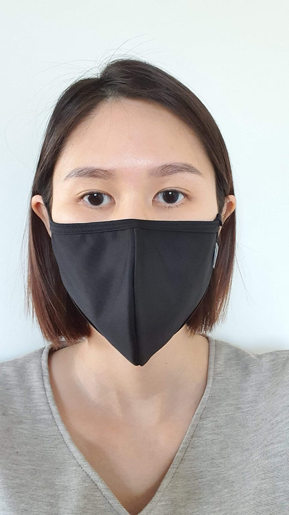 Antimicrobial Reusable Face Mask | Adult Black