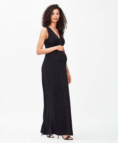 Leota Isabella Maxi Dress | Black Crepe