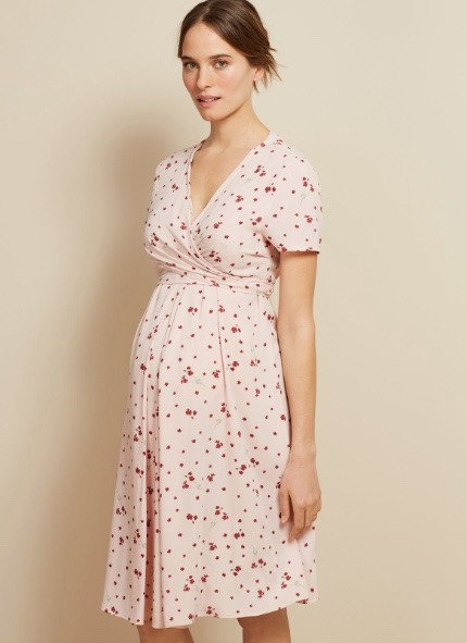 Isabella Oliver Leonie Maternity Tie Dress | Pink