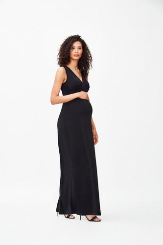 67df845e35a6d Leota Isabella Maxi Dress | Black Crepe