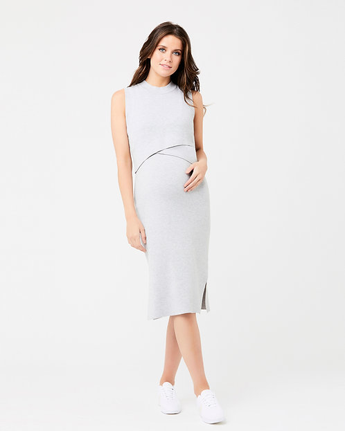 Ripe Layered Knit Dress   Silver Marle