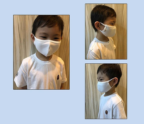 Antimicrobial Reusable Face Mask | Kids White