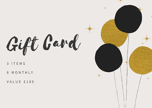 3 Items 6 Monthly Bundle Gift Card