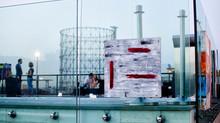 Mostra sulla terrazza dell'hotel H10 a Roma