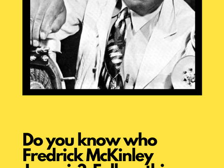 The Fredrick McKinley Jones Give-Away:  By Audrey Zhao