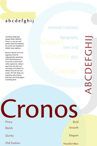 Cronos Font Poster