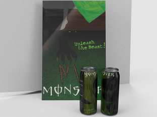 Monster Energy Label: Redesigned