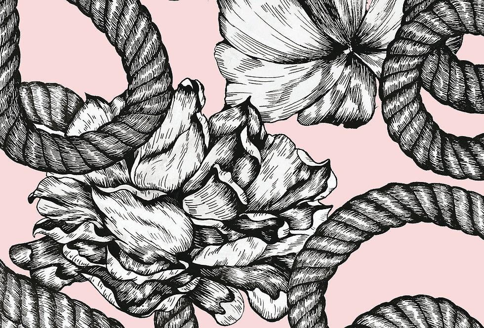 Rope Blush Print