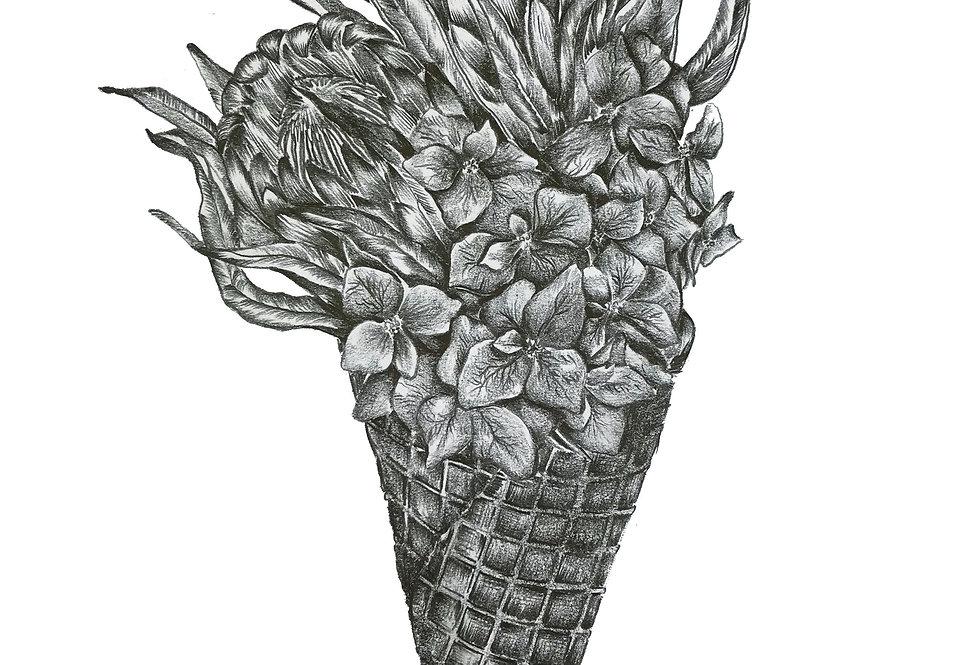 Flower Cone Print