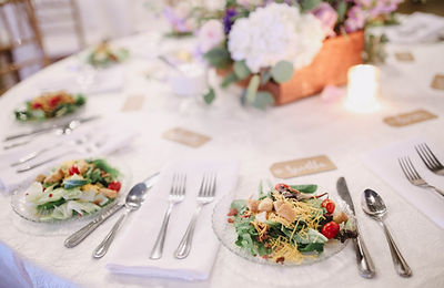 Rehearsal Dinner Table, Salad