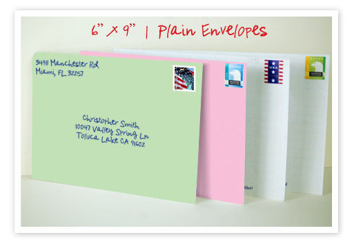 hand written colored envelopes by gobig printing for real estate investors and marketing home sellers