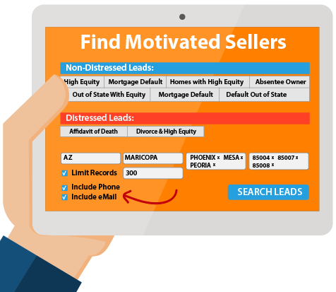 PRINTgenie - Motivated sellers search and data center