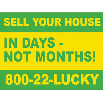 Lucky Yard Sign 03