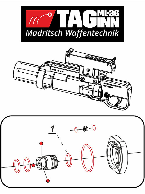 "Repair kit for ""TAG-ML36"" launcher"