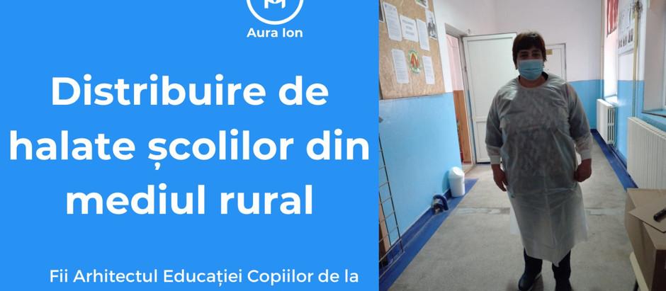 Dăruim halate școlilor din mediul rural