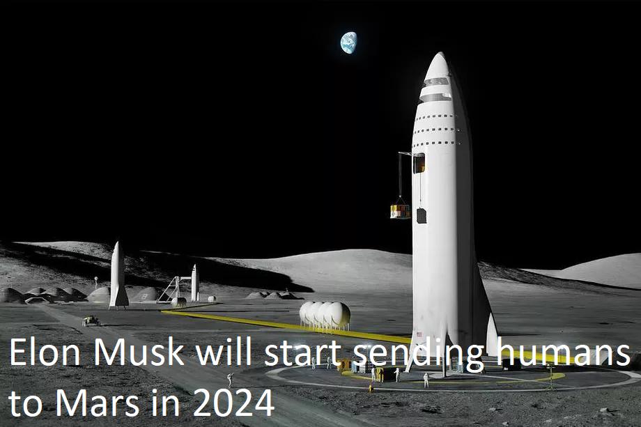 Elon Musk will start sending humans to Mars in 2024