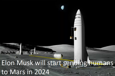 Elon Musk will start sending humans to Mars in 2024
