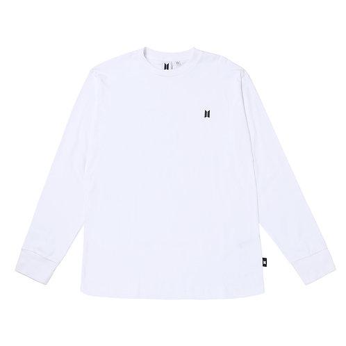 [ARRIVING SOON] BTS POP-UP: White Long Sleeves Shirt - 2 pack (Basic Logo )