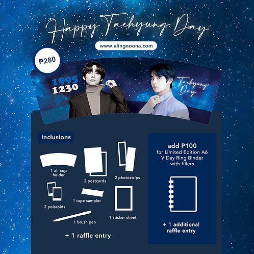 [ON-HAND] (BTS Cupholder) Happy Taehyung Day