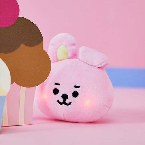 [ON HAND] BT21 Baby Cooky Face Lighting Bag Charm Doll