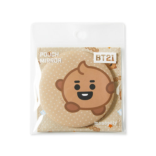 [ON HAND] BT21 -  Pouch Mirror (Shooky)