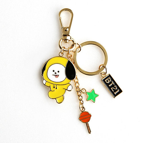 [ON HAND] BT21 x Monopoly Metal Keyring (Chimmy)