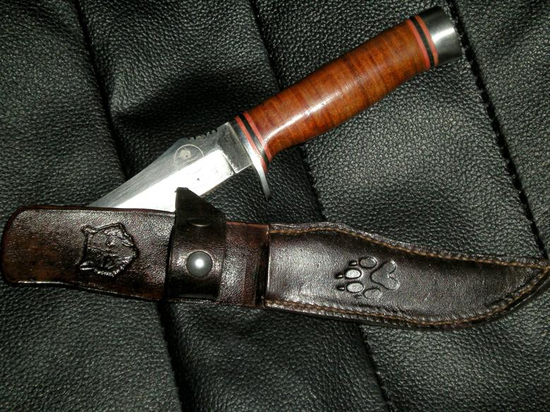 Etui couteau Loup