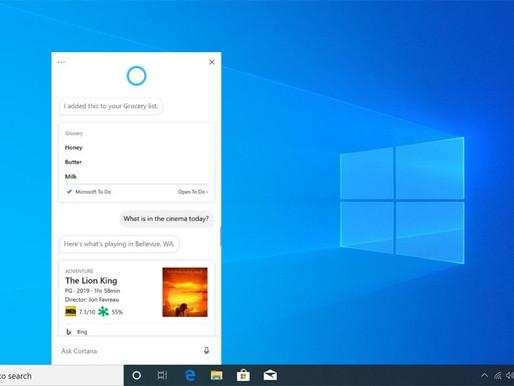 New Cortana App for Windows 10