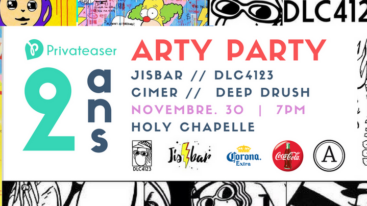 Privateaser 2 ans x Live Pop Art