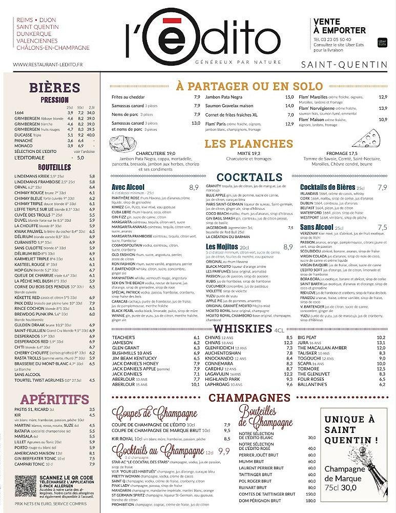 Restaurant Saint Quentin Édito Carte 1.j