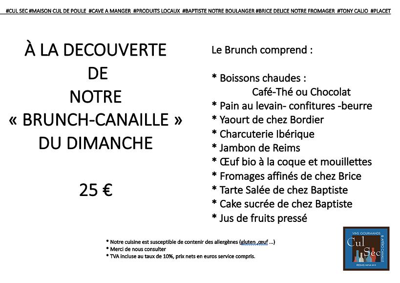 menu brunch reims cul sec