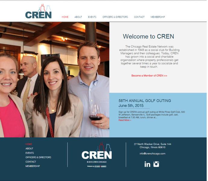 STUDIOHAMMER designs new website for CREN (Chicago Real Estate Network)
