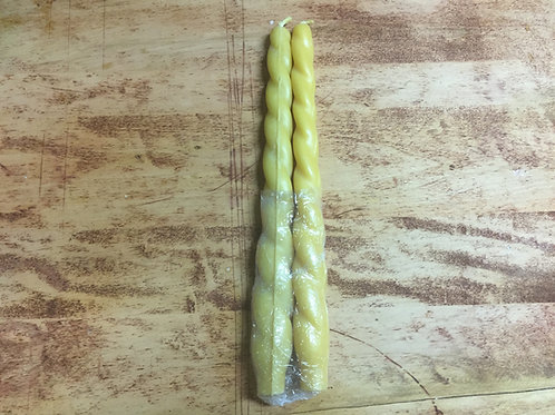 12″ Spiral Beeswax Candles