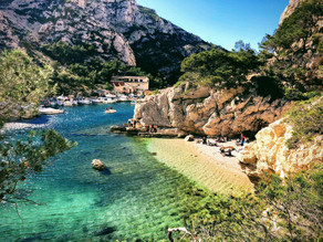 Les Calanques during Jahné's immersion course in Provence